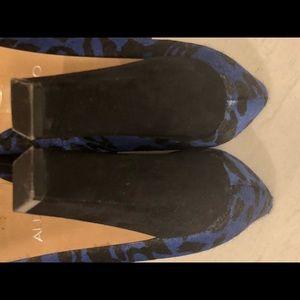 Aldo Shoes - ALDO cobalt and black calf hair heels